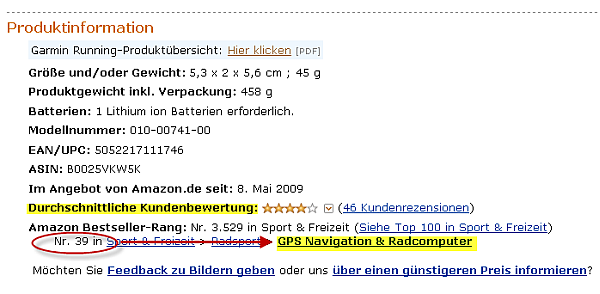 Amazon Affiliate Programm Bestseller Rang