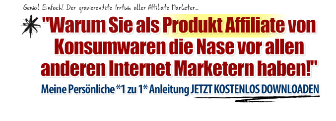 Produkt Affiliate Blaupause Headline