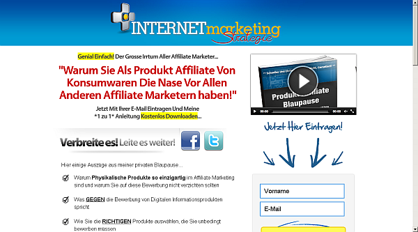 Produkt Affiliate Internet Marketing Strategie